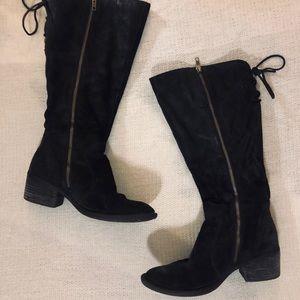 Black Below The Knee Boots-Wide Calf